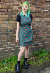Fox Pinafore [non stretch twill] Green Free Pin ~  Run & Fly