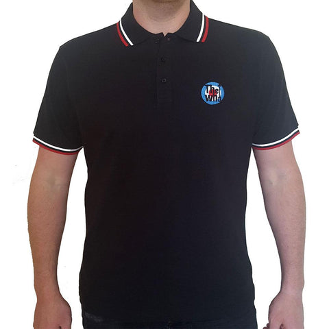 The Who Unisex Polo Shirt: Target Logo (Music)