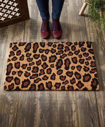 Leopard Door Mat  ~ Joe Browns