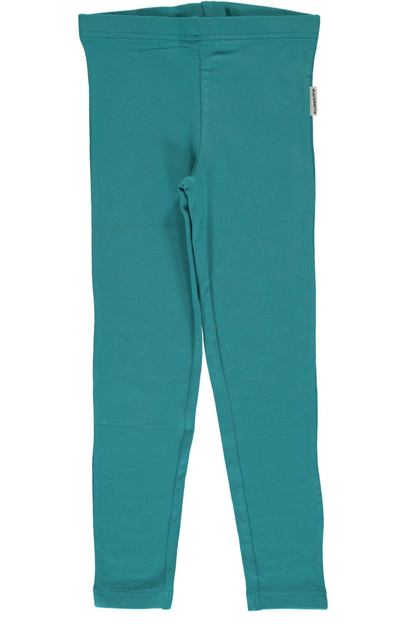 Soft Green Petrol Leggings ~ Maxomorra