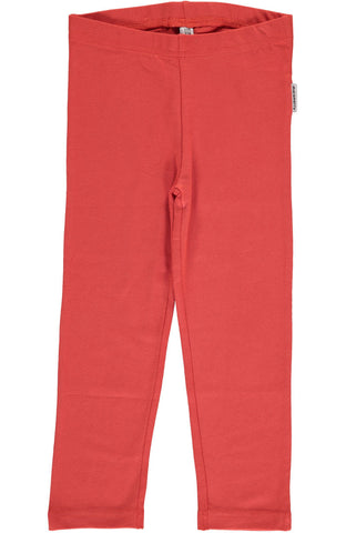 Rusty Red Cropped Leggings ~ Maxomorra