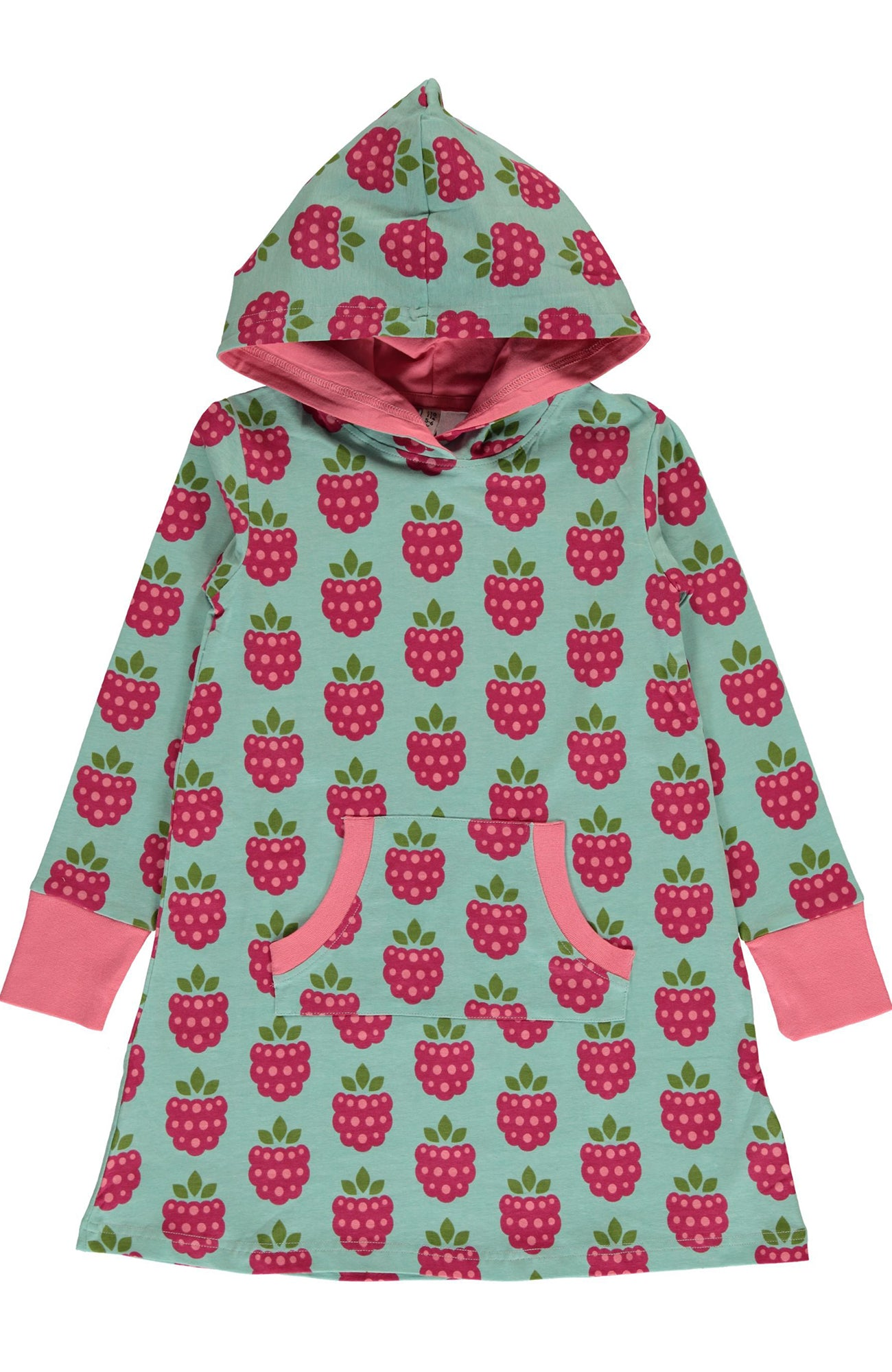 Raspberry Hooded Sweat Dress ~ Maxomorra