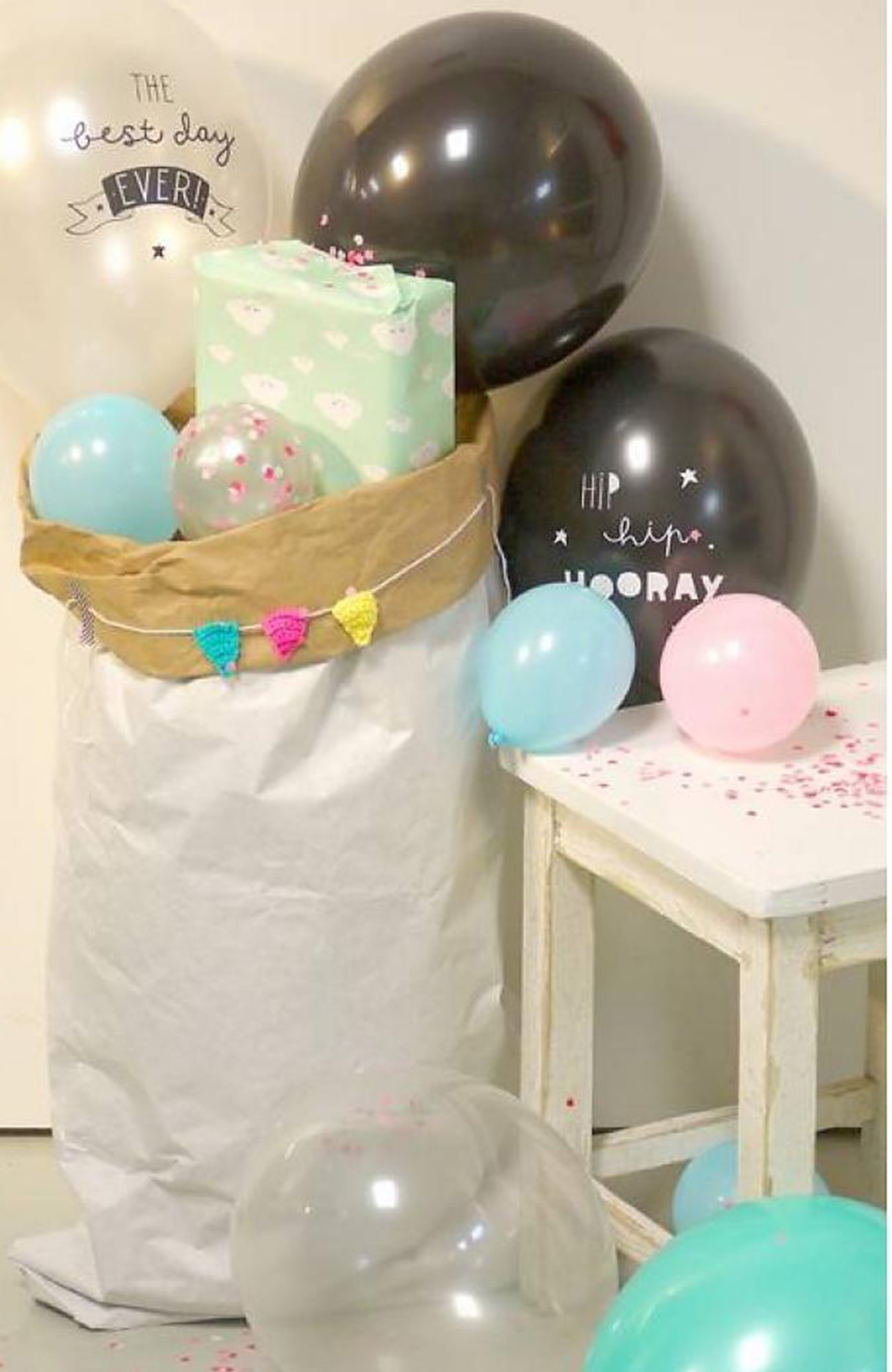 Set Of 6 Balloons The Best Day Ever ~ A Little Lovely Company