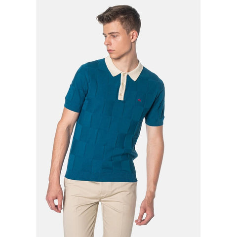 Batley Knit Polo (Teal) - Merc
