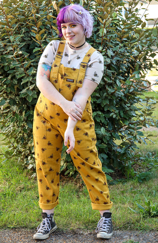 Bee [Stretchy] Twill Dungarees + Free Pin ~ Run & Fly