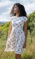 White Buzzy Bumble Bee Tea Party Dress ~ Run & Fly