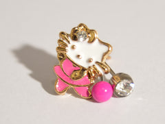 Hello Kitty 3 Metal set stud Earrings