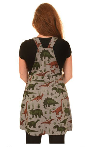 Adventure Dino Pinafore Dress Twill Free Enamel Pin ~ Buy 2 Run & Fly Items Save 10%