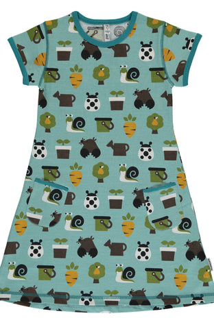 Garden Short Sleeved Dress ~ Maxomorra