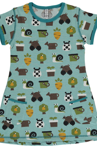 Garden Short Sleeved Tunic ~ Maxomorra