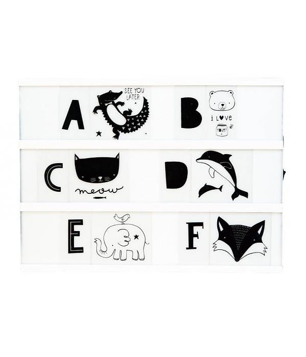 A5 & A4 Lightbox letter set: ABC black ~ A Little Lovely Company
