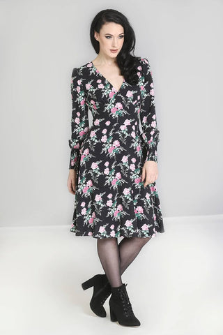 Floral Long Sleeved Dress ~ Hell Bunny