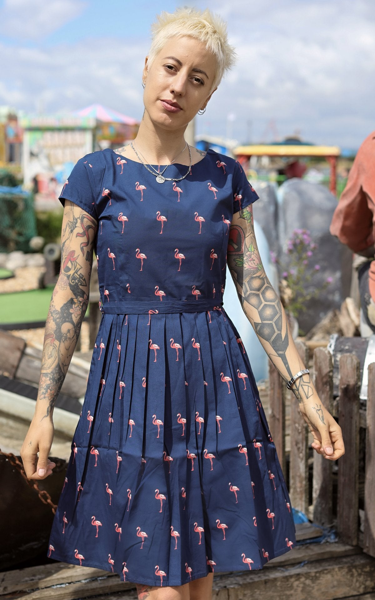 Flamingo Tea Party Dress ~ Run & Fly