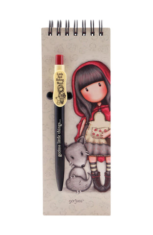 Little Red Riding Hood Jotter With Pen ~ Gorjuss