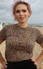 Natural Leopard Print T-Shirt ~ Run & Fly