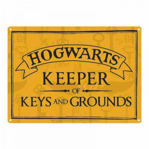 Keeper Of Keys Tin Sign (Harry Potter)