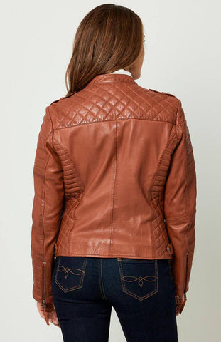 Candid Quilted Leather Jacket ~ Joe Browns