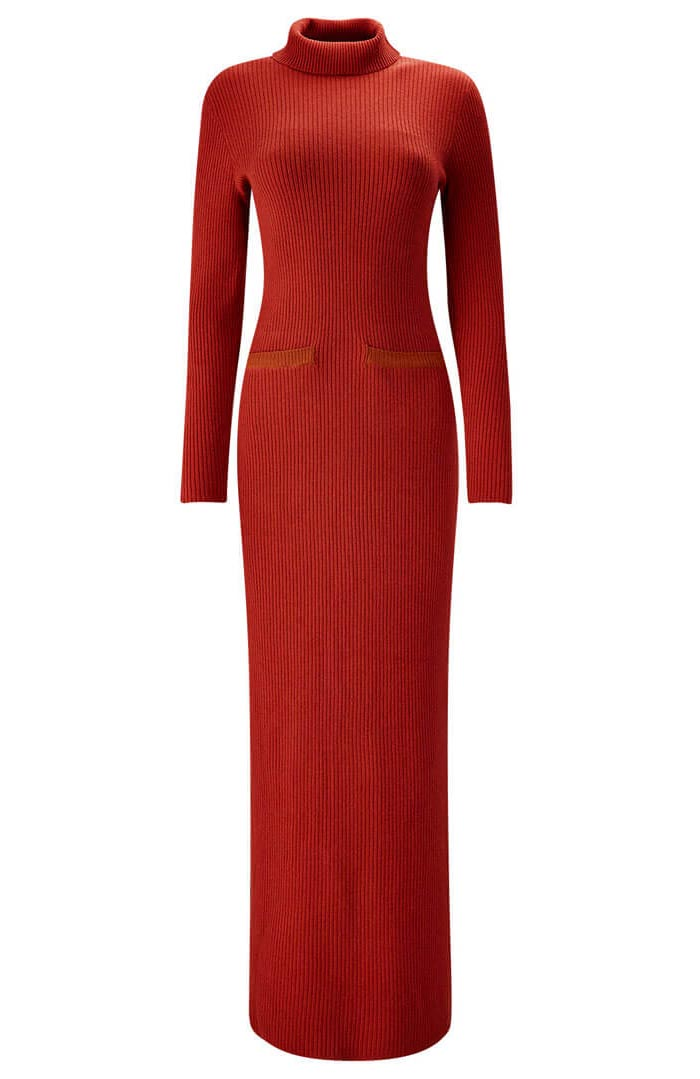 Fabulous Ribbed Knitted Dress ~ Joe Browns