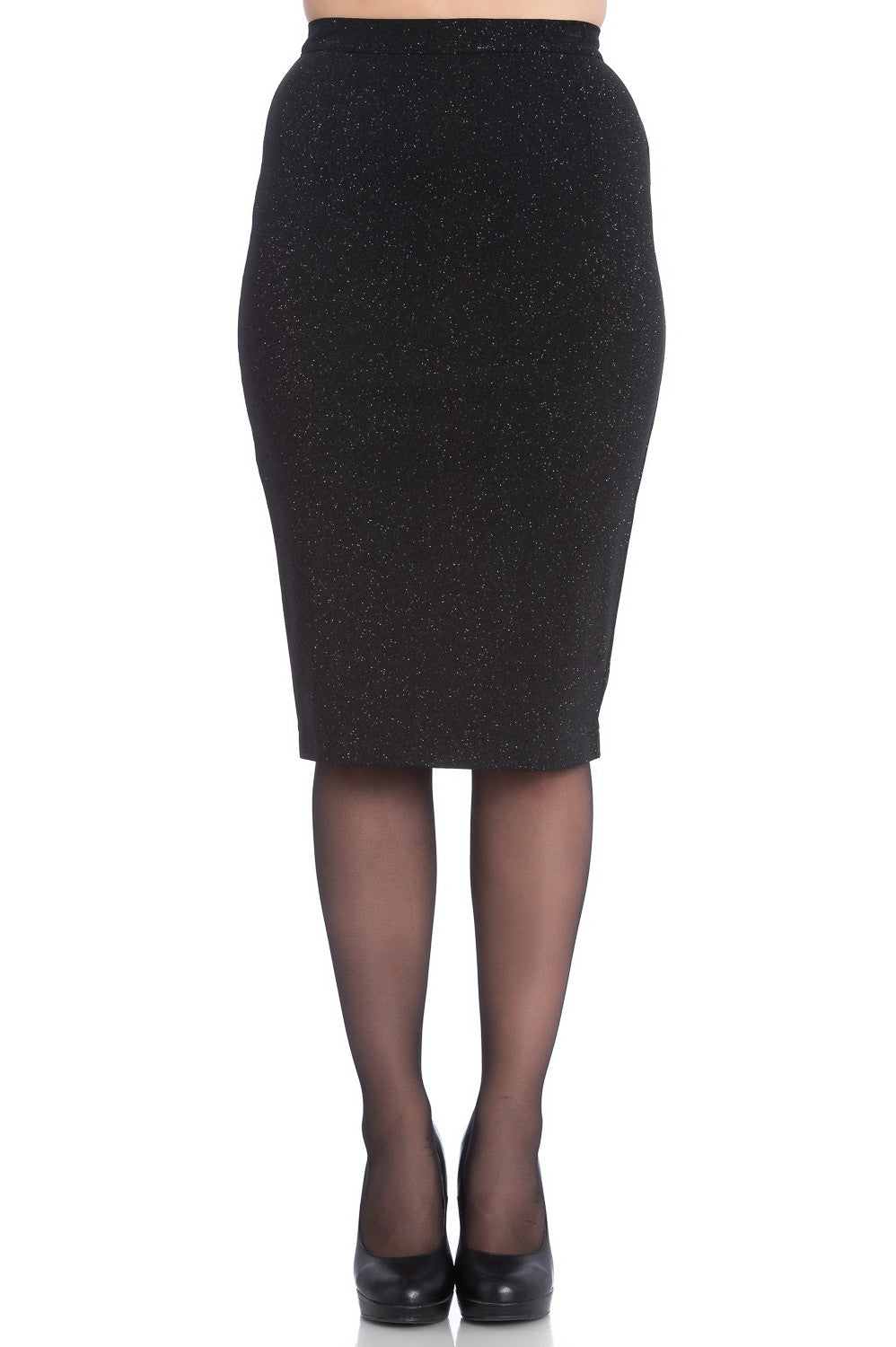 Nebula Black Pencil Skirt ~ Hell Bunny