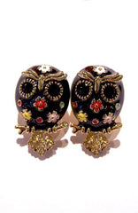 Black Owl Earrings