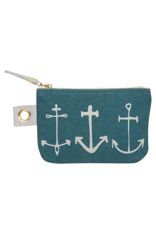 Small Zip Pouch ~ Seven Seas