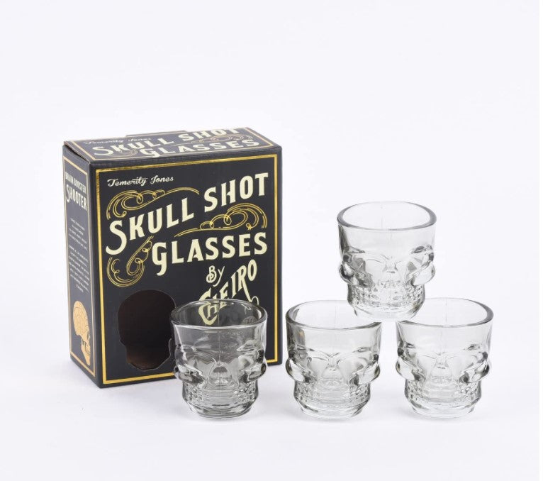 Skull Shot Glasses ~ Set of 4