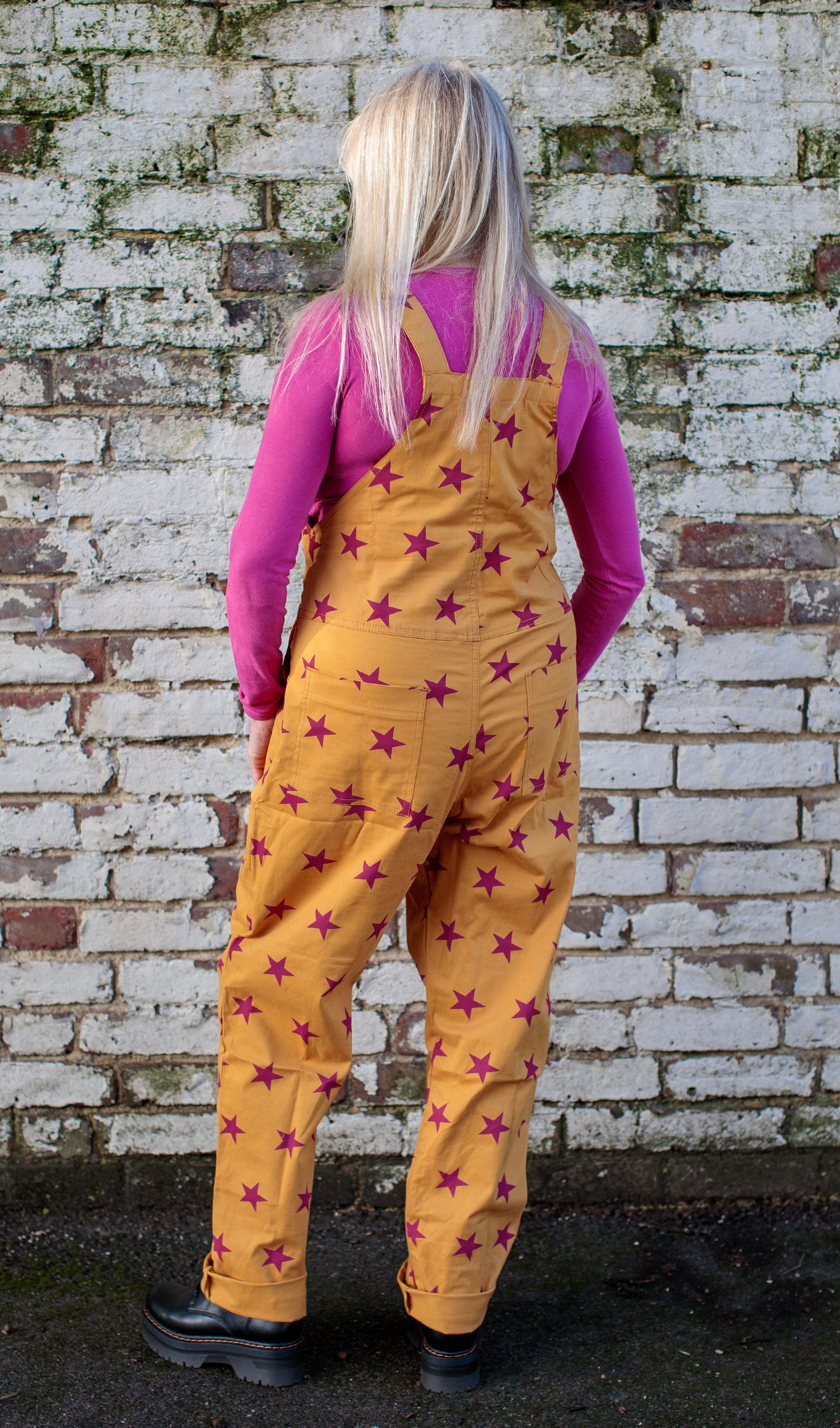 Star [Stretchy] Twill Dungarees + Free Pin ~ Run & Fly
