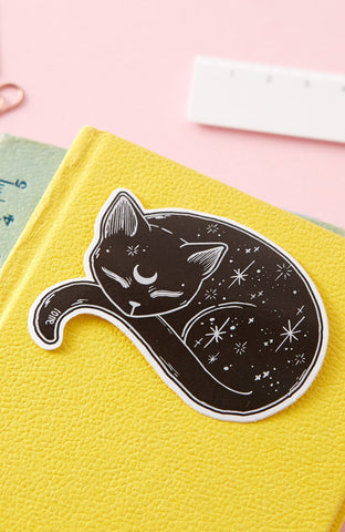 Mystical Cat Die Cut Vinyl Sticker ~ Punky Pins