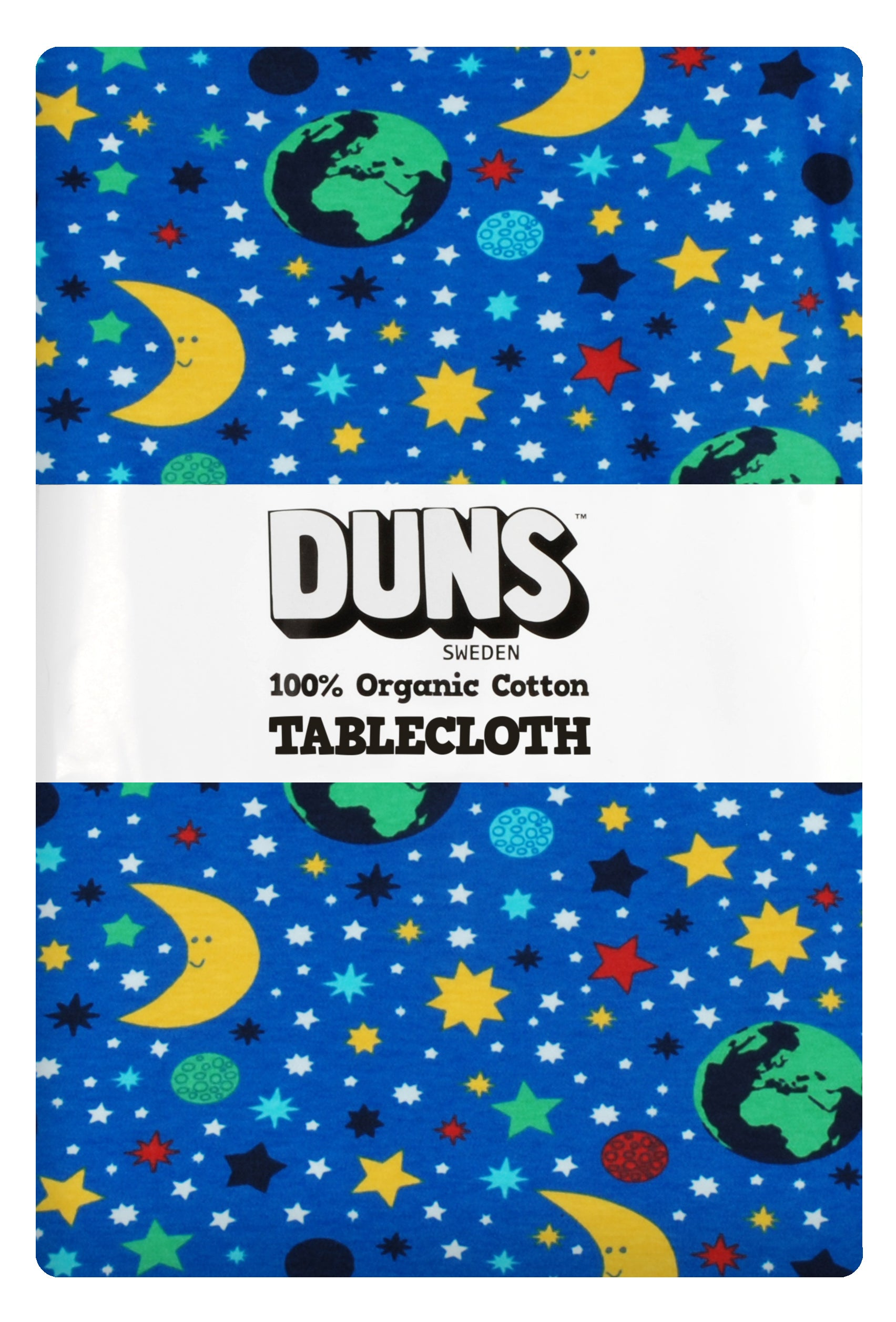 Blue Mother Earth Organic Table Cloth ~ Duns Sweden