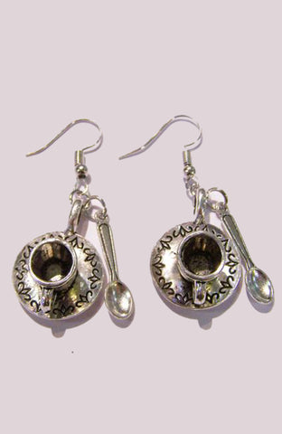 Tea Cup & Spoon Earrings
