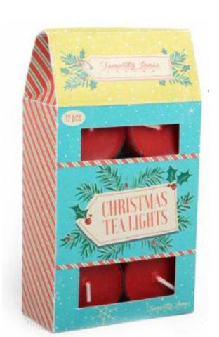 Red Christmas Tea Lights 12 Pack ~ Temerity Jones