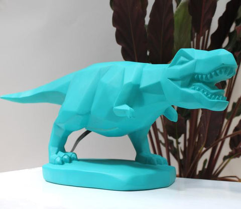 Turquoise Dinosaur T-Rex Lamp Light