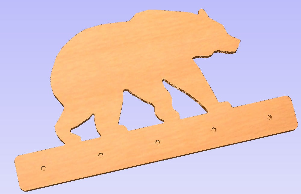 Bear Wall Mounted Coat Rack
