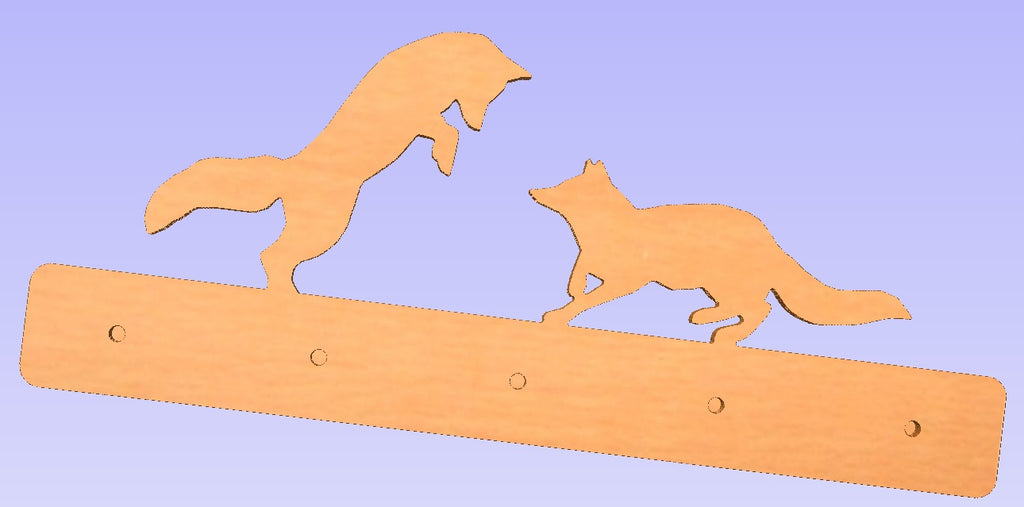 Fox Wall Mounted Coat Rack