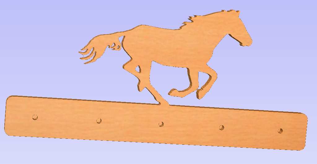 A Horse Wall Mounted Coat Rack