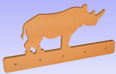Rhino Shaped Coat Rack