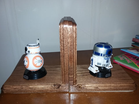 Personalized Oak Bookends With Favorite Characters