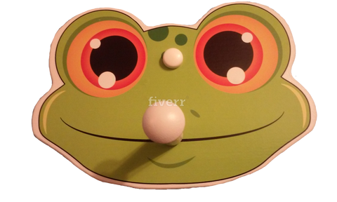 children's frog shaped coat rack, frog coat rack, shaker peg rack, kids coat rack