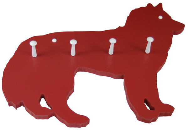 dog coat rack, dog shaped coat rack, shaker peg rack, white shaker peg rack
