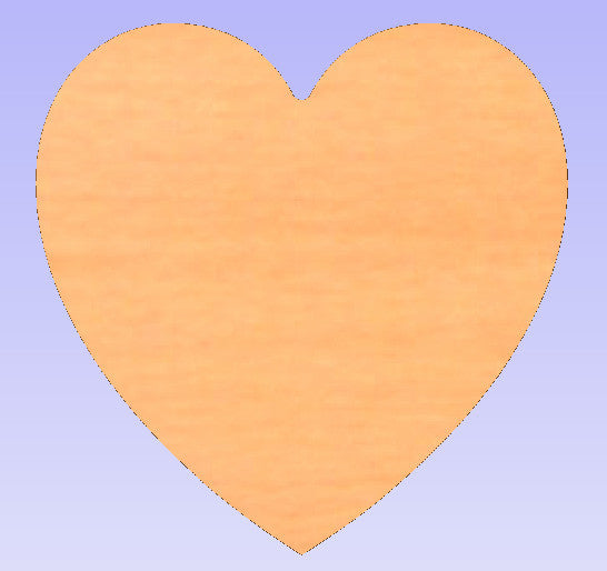 Heart Shaped Wooden Plaque