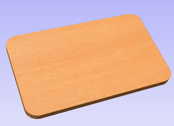 Rectangular Wooden Plaque with Rounded Corners
