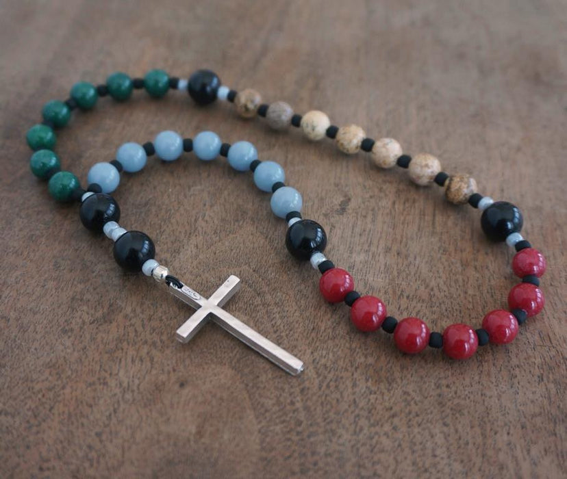 Christian Rosary: gemstone colorblock 1
