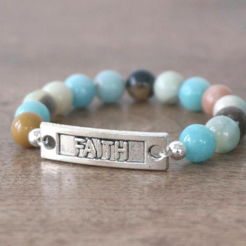 FAITH bracelet: Flower Amazonite
