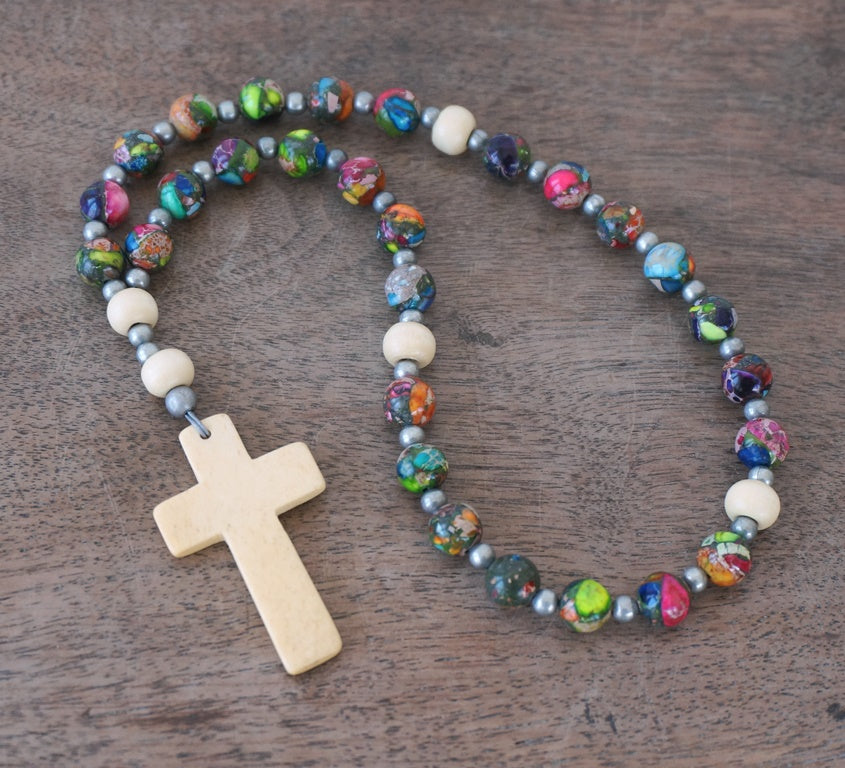 colorful Christian Rosary by Holy Rocks 2