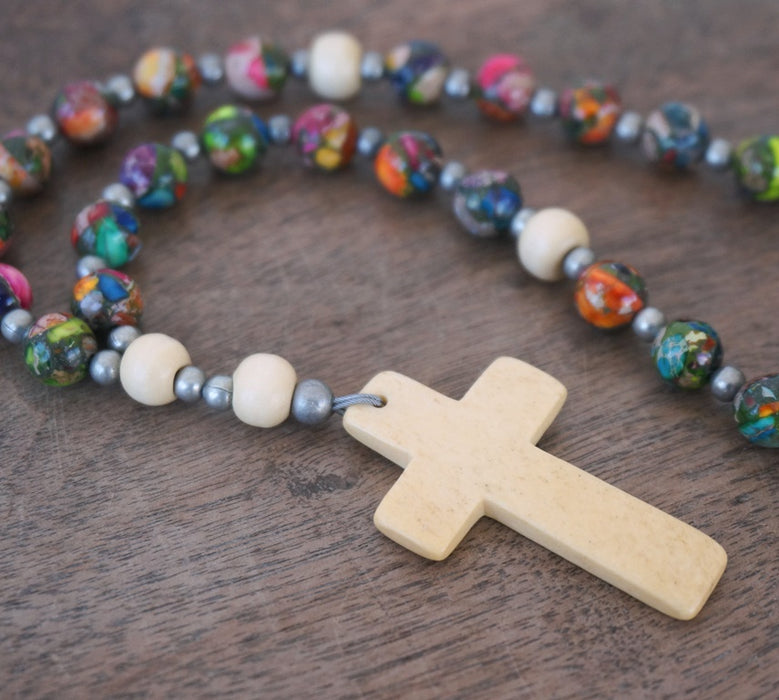 colorful Christian Rosary by Holy Rocks 3