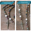Franciscan Rosary: Red Creek Jasper, Riverstone, & Brass