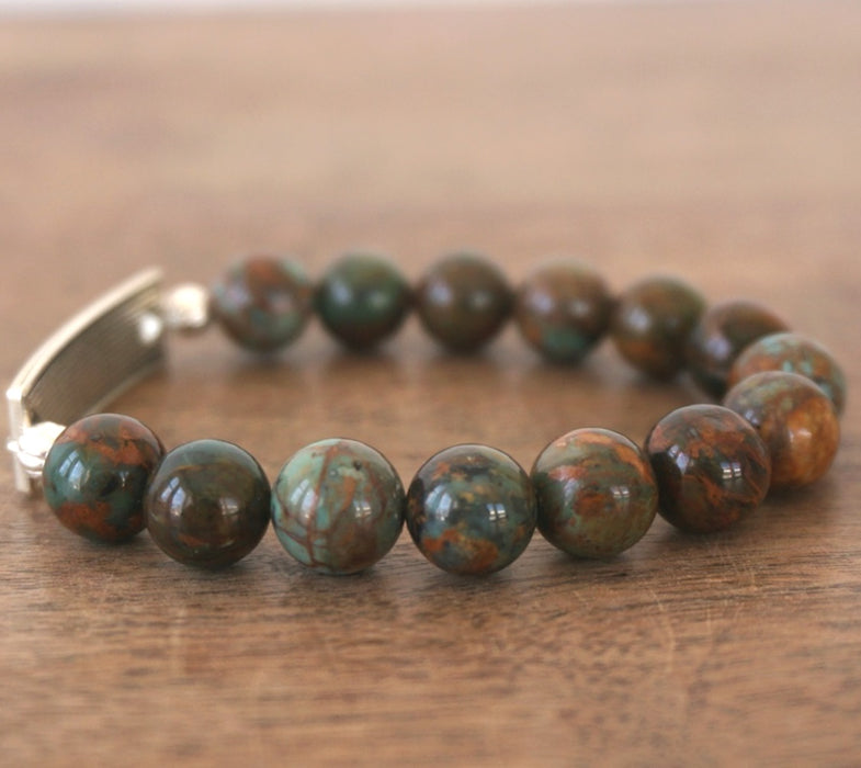 FAITH bracelet: Green Opal