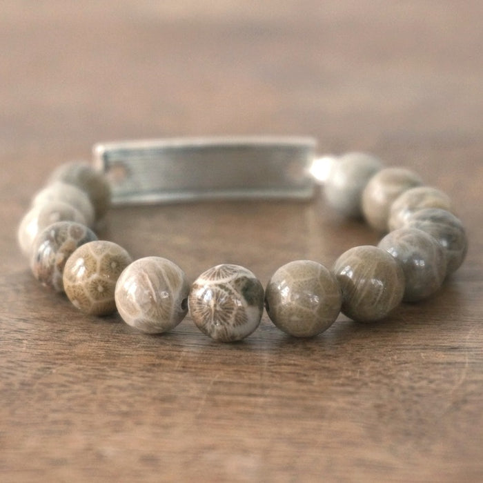 FAITH bracelet: Fossilized Coral