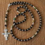Franciscan Rosary: Smoky Quartz & Sea Sediment Jasper