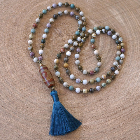 108 Mala Necklace: Joy